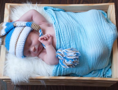 Newborn Boy Blue Wrap